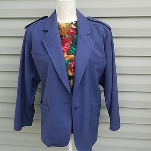 Vintage Escada Navy Oversized Blazer very 1980s